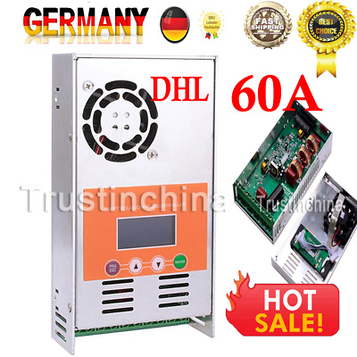 60A Solar Charge Controller MPPT For 12V 24V 36V 48V DC Battery Regulator DE DHL