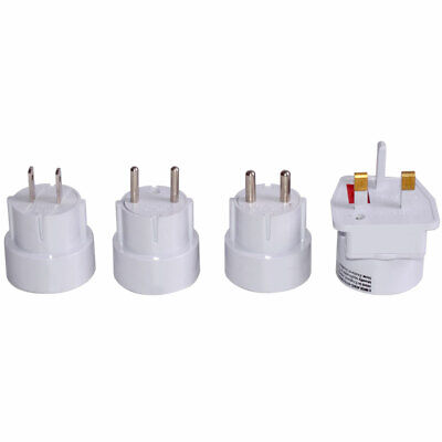 Travel Plug Set 4 pieces sockets adapter white universal worldwide