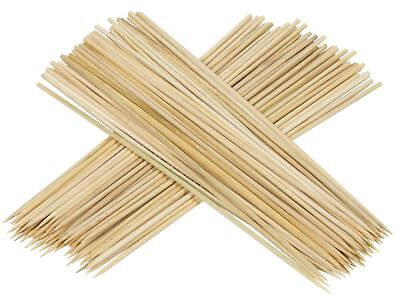 100 X 30CM Wooden Bamboo Skewers Grill BBQ Shish Sticks Kebab Fruits Party