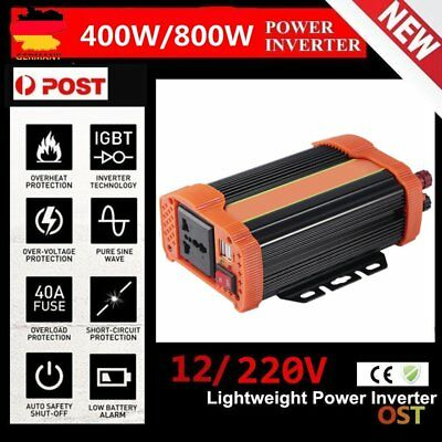 400W Car Power Inverter DC12V to AC220V Modified Charger Power Converter H0