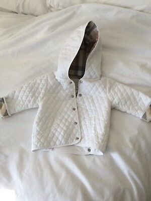 BURBERRY KIDS/BABY WHITE QUILTED JACKET 18 months