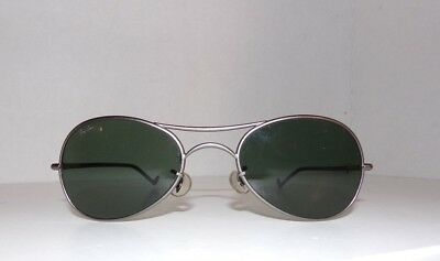 Ray Ban Vintage Orbs Matte Gun medal  G15 B&L Lenses Sunglasses New with flaw