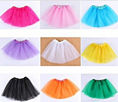 Girls Tutu Ballet Skirt Kid Children Dancewear Fancy Dress Dance Costume Fairy