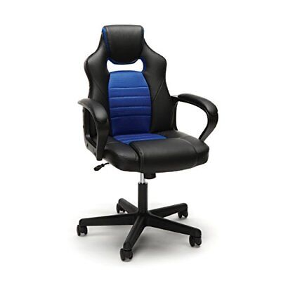 Gaming Chair Racing Style Bucket Swivel Computer PC Gamers Office Desk Seat ESS