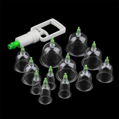 UK Genuine Cupping Set 12 Cups for Therapy Vacuum Massage and Acupuncture Hot