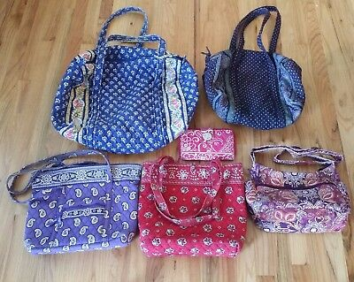 Vera Bradley Repair Lot of 5 Bags Duffel Shoulder & Wallet