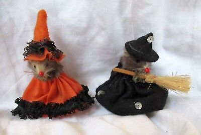 "2 Vintage Original Fur Toys - Made in W. Germany ""Halloween"" themed (pre-owned)"