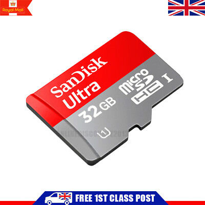NEW 32GB SanDisk Ultra Micro SD SDHC Memory Card Adapter 80MB/s UHS-I Class 10