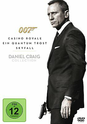James Bond 007 - Casino Royale / Ein Quantum Trost / Skyfall  [3 DVDs](NEU/OVP)