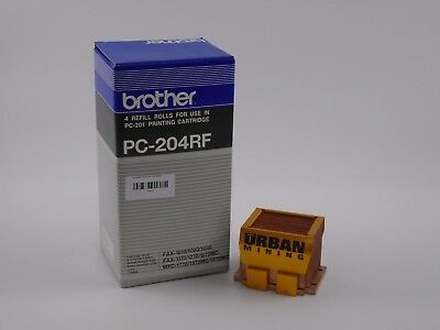 Brother PC-204RF 4 Refill Rolls Printing Cartridge pc-201 New&Sealed