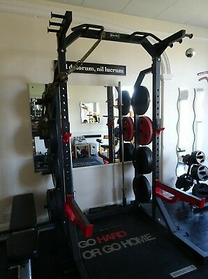Bodymax Half Power Rack with 2 Olympic Bars and selection of bumper plates