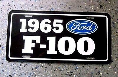 1965 Ford F-100 Pickup License plate tag 65  F100 Pick Up Truck Hot Rod Classic
