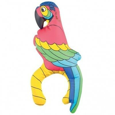 28cm Inflatable Shoulder PARROT Bird Fancy Dress Accessory Hawaiian Beach Party