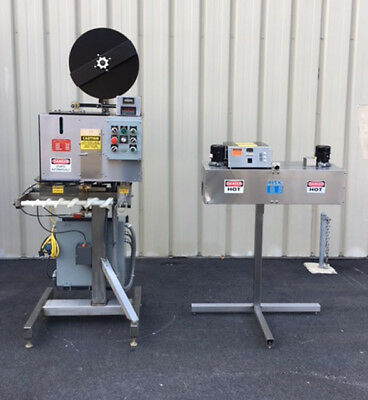 PDC 65M Tamper Evident Neck Bander Shrink Sleever with PDC Heat Tunnel