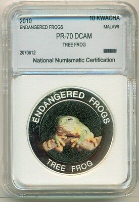 Malawi 2010 10 Kwacha - Endangered Frogs Tree Frog Proof UNC BU
