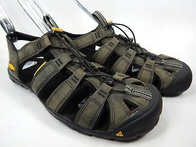 1e764b14a23 Keen Clearwater Leather CNX Sport Sandals Men s Size 9 M EU 42 Magnet    Black