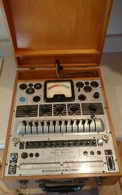 Vintage Precision Model 10-12 Tube And Battery Tester Along With All The Data