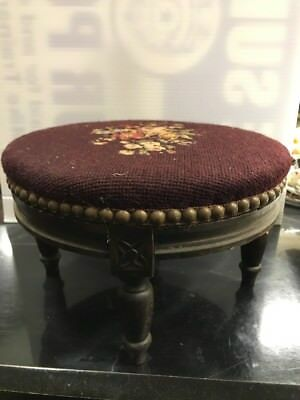 Antique Red OTTOMAN FOOTSTOOL