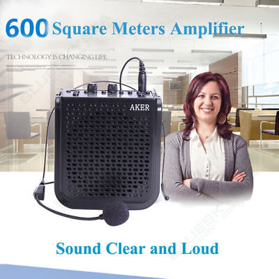 Portable Voice Amplifier Booster Headset Mic Loud Speaker Waistband w/Microphone