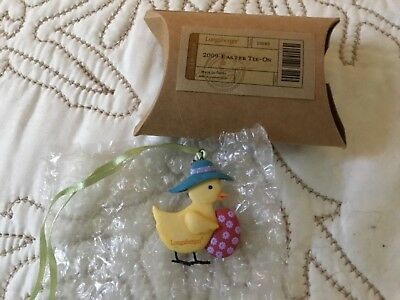 Longaberger 2009 Easter Chick Basket TIE ON New in box