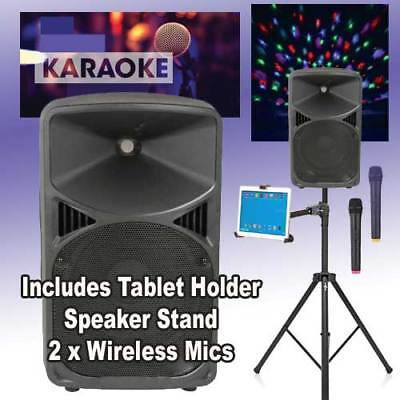 Professional Karaoke Machine for Large Party or Pub Twin Wireless Microphones