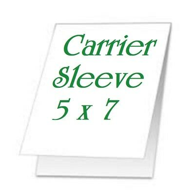 5 pk Carrier Sleeve's For Laminating Laminator Pouches Size 5-3/8 x 7-3/8 Coated