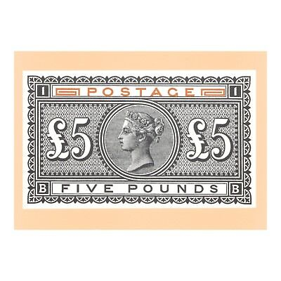 Queen Victoria High Value Postage Five Pounds 1985 Series Postal Museum Postcard