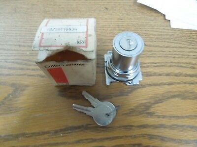 Cutler-Hammer 10250T16534 3 Pos. Keyed Selector Switch Maintained Cam 3 Surplus