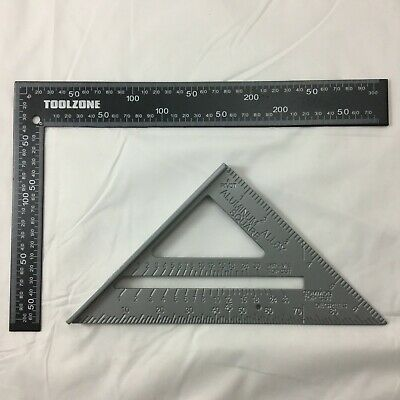"""METAL ROOFING/RAFTER/SET SQUARE 300mm x150mm 7"""" SPEED SQUARE ALLOY RAFTER/GUIDE"""