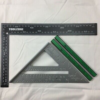 "Metal Roofing/rafter/set Square 6""  Speed Square Alloy Rafter/guide 2 X Pencils"