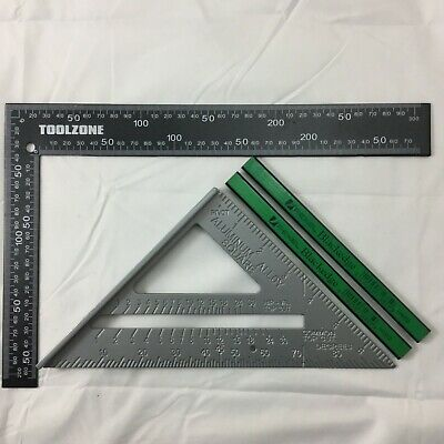 """Metal Roofing/rafter/set Square 7"""" Speed Square Alloy Rafter/guide 2 X Pencils"""
