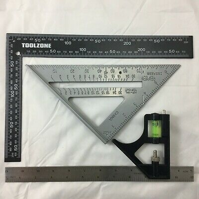 """METAL ROOFING/RAFTER/SET SQUARE COMBINATiON 300mm  7"""" SPEED SQUARE ALLOY RAFTER"""