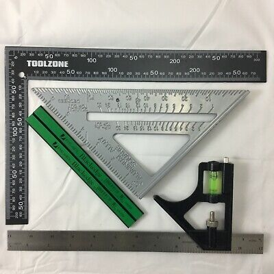 """METAL ROOFING/RAFTER/SET SQUARE COMBI 300mm 7"""" SPEED SQUARE ALLOY RAFTER pencils"""