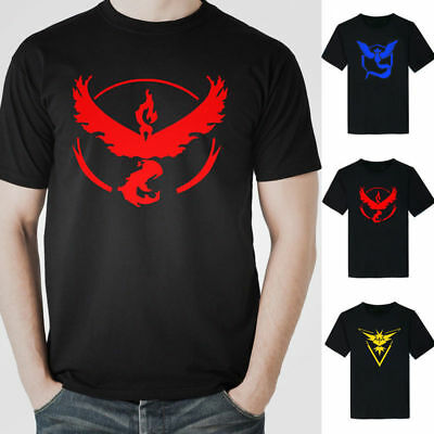 Pokemon Go Team Valor Team Mystic Team Instinct Pokeball T-Shirt Top Graphic Tee