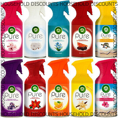6 X Airwick Air Wick Pure Spray Air Freshener Scent Fragrance Room Home 250Ml