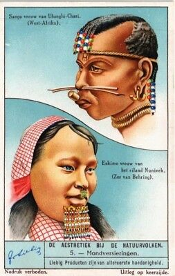 Advertising Liebig Card Aesthetics Of The Natural People Mouth Decorations