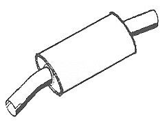 ASSO exhaust front silencer FIAT Ducato (280, 290) 1.9 D + 2.4 TD + 2.5 TD