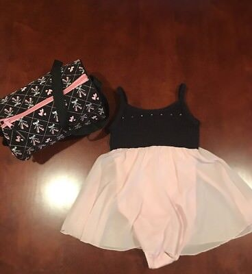 Girls Leotard Size 7/8 With Dance Bag