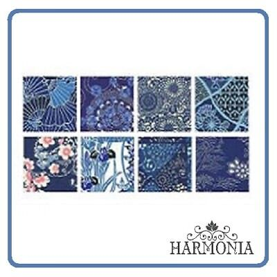 Japanes Origami Paper AIZOME CHIYOGAMI  15 x 15 cm 8 sheets 8 designs