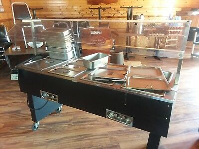 Steam Table Buffet Serving Cart (Electric)