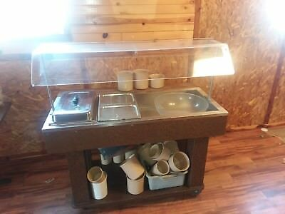 Cold Buffet Table with Drain
