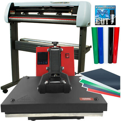 "BUNDLE: 34"" SC2 Vinyl Cutter,15""x15"" Digital Heat Press Machine, HTV, Sign Vinyl"