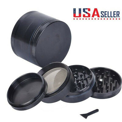 US 4 Layer Tobacco Herb Grinder Spice 40mm Herbal Zinc Alloy Smoke Crusher NEW