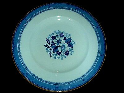 WOOD & SONS WOODS WARE STIRLING Blue / White 10 inch Plate c1932
