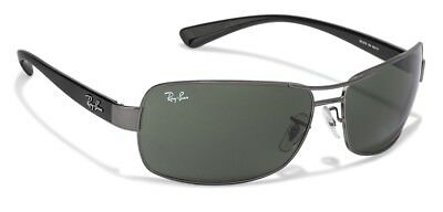 fd038a4b71 AUTHENTIC RAY-BAN RB3379 004 58 Gunmetal Green Polarized Lens 64mm ...