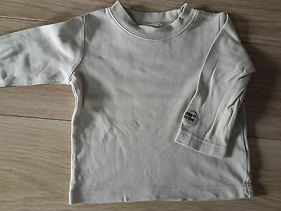 T shirt longues manches beige Taille 9 - 12 mois
