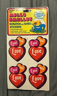 Vintage Mello Smellos Sticker Set in Packaging Retro Cinnamon & Roses