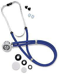 """Rappaport Stethoscope Omron Blue 2-Tube 22"""" Tube Double Sided Chestpiece 1/EA"""