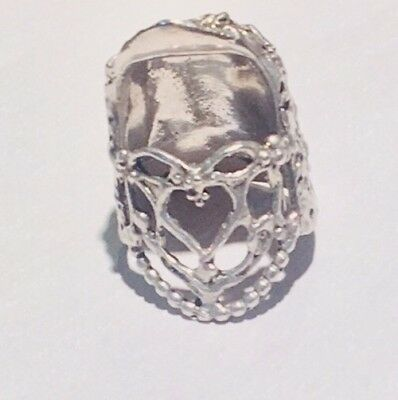 Open Nail Lacy Heart Sterling Silver Thimble
