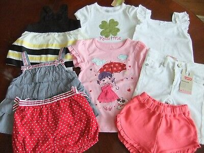 NWT Girls Size 12-18, Months 2T LOT of Summer CLOTHES shirts shorts Gymboree